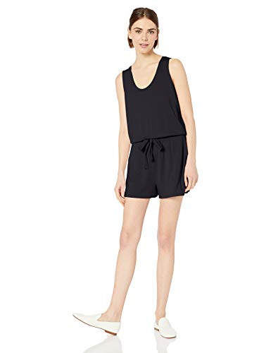Amazon Brand - Daily Ritual Women's Supersoft Terry Sleeveless Romper, Navy, XX-Large