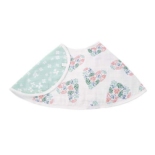 aden by aden + anais Burpy Bib, 100% Cotton Muslin, Soft Absorbent 4 Layers, Multi-Use Burp Cloth and Bib, 22.5
