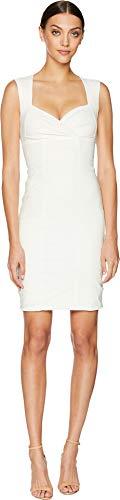 (Nicole Miller Women's Sofia Cotton Metal Dress White 10)