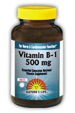 La nature de la vie B-1 comprimés, 500 mg, 50 Count