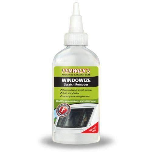 1 x Fenwicks Windowize Caravan Plastic and Acrylic Scratch Remover /& 1 Pair Of Black Nitrile Gloves