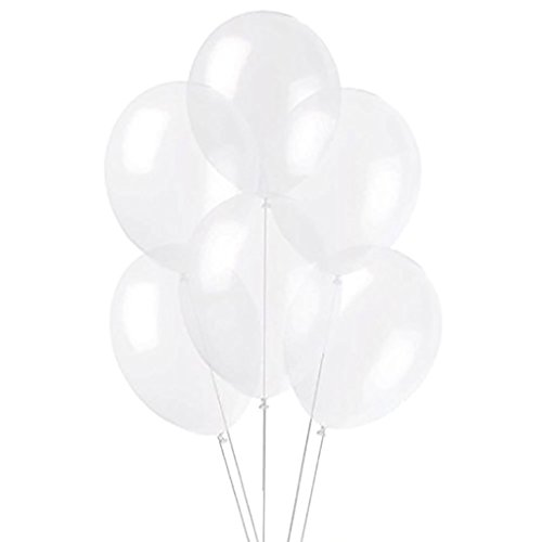 Plain Latex Balloons | Clear Transparent | Party - Bubble Wrap Suppliers