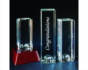 ANEDesigns Engraved Crystal World Tower Award ()