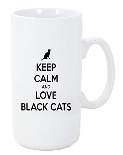 - Keep Calm and Love Black Cats Big 20 ounce Ceramic Coffee Mug Tea Cup by Moonlight Printing