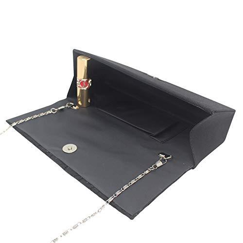Cckuu Evening Women Handbag Navy Party Banquet Blue Shoulder Wedding Clutch Black Bridemaid Bag 1qaf1r