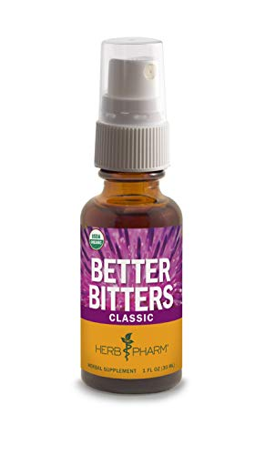 Herb Pharm Better Bitters Certified Organic Digestive Bitters, Classic, 1 Ounce ()