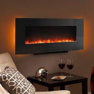 Charmant Hearth U0026 Home 38 In Black Linear Wall Mount Electric Fireplace   SF WM38