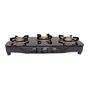 Gesto 3 Burner Crona Gas Stove Stainless Steel.5 Years Warranty on Brass Burners.Door Step Service at Home.Save 15% LPG Its Challenged.