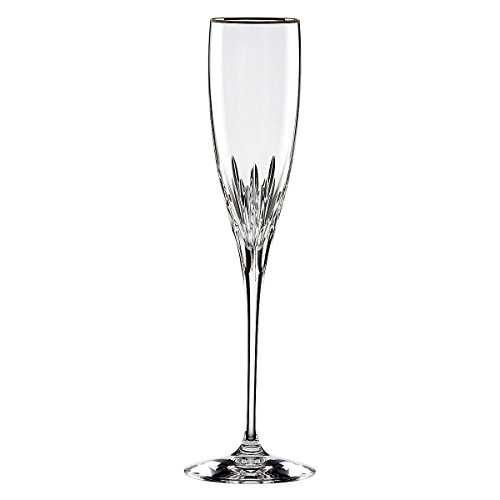 Lenox Firelight Platinum Crystal Signature Flute, Set of - Glass Champagne Platinum