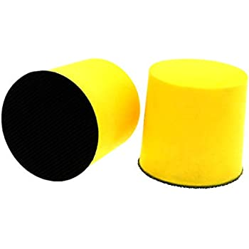 2 Inch Hand Sanding Block Foam Polishing Pad Abrasive Tools Hook and Loop Disc Attachment Tools Accessories 50mm by VIBRATITE