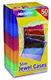 CD/DVD Slim Jewel Cases, Color, 50pk