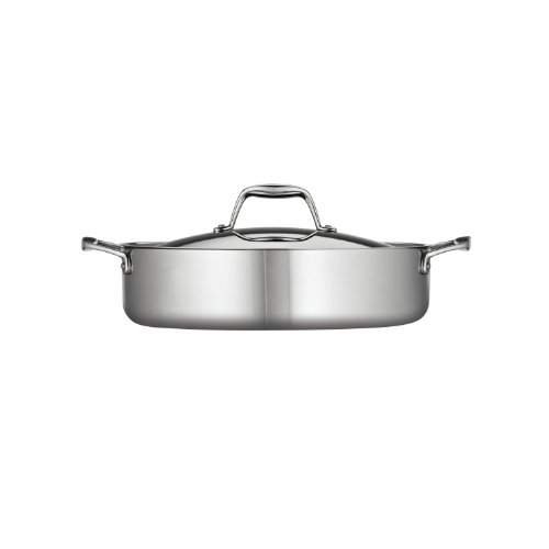 Tramontina 80116/015DS Gourmet Stainless Steel Induction-Ready Tri-Ply Clad Covered Braiser, 5-Quart, NSF-Certified, Made in Brazil by Tramontina (Image #1)