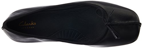 Leder Closed Clarks Mokassins Schwarz Freckle Damen Schwarzes Ice qx8Uv0