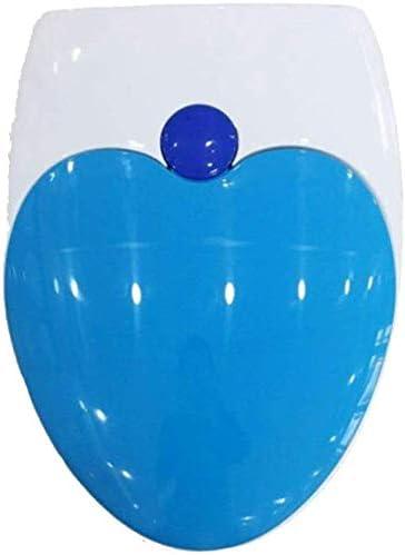 S-graceful便座大人の子供用便座、ソフトクローズアジャスタブルヒンジ付き取り付けが簡単V/U形状の便器、ブルー-V用の超耐性便蓋