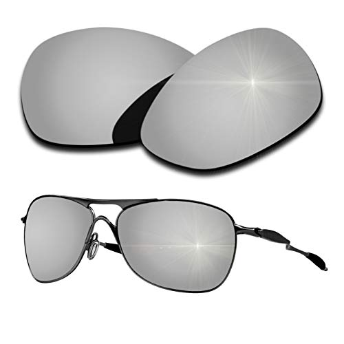 Oakley Crosshair Replacement Lenses - Polarized Replacement Lenses for Oakley Crosshair 2012 - Silver Mirrored Coating