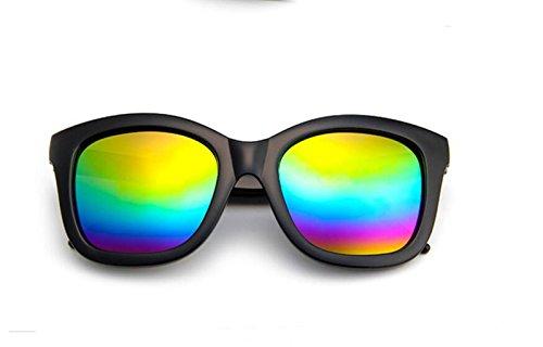 de personalidad GLSYJ sol Bright Versión LSHGYJ en salvaje de multicolored sol moda mercury de películas color gafas gafas gafas lifting retro sol en las coreano black RwqPwfOd