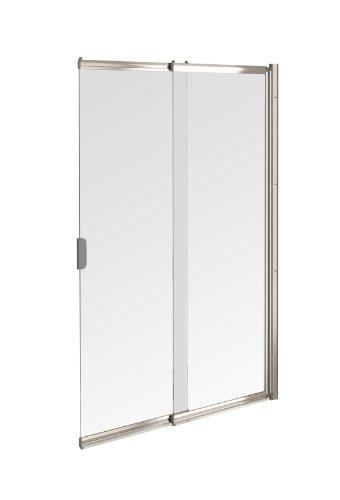 Aqualux FBS0327AQU Duschschiebetür, 2 Schiebewände, 820mm, silberfarben poliert/transparent