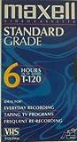 Maxwell Standard Grade T-120 Blank Video Cassettes - 6 Pack