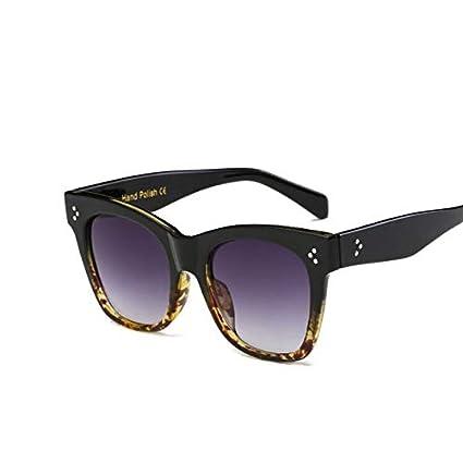 Amazon.com: Kasuki Flat Top Mirrored Sunglasses Women Brand ...