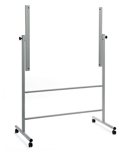 Audio-Visual Direct Glass Dry-Erase Board Mobile Stand, (35 1/2 x 47 1/4 Inches Board Size) Stand ONLY, Does NOT Include Board