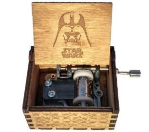 Phoenix Appeal Antique Carved Wooden Music box Hand cranked Music: Game of thrones, Harry Potter, Merry Christmas Theme Gift, (Star Wars, Wood)