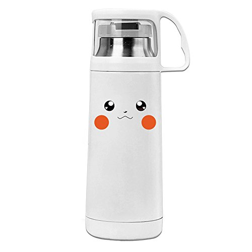 Kawaii Love Pika Face Convenient Vacuum Insulation Cups Unisex (Pika Stainless Steel)