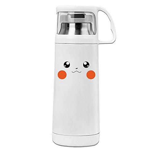 Kawaii Love Pika Face Convenient Vacuum Insulation Cups Unisex ()