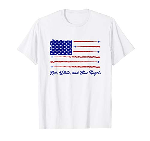 Red White Blue Angels American Flag 4th Of July Veteran Gift