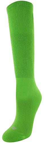Sof Sole Allsport Team Athletic Performance Socks, Neon Green, Womens 5-10, 2-Pack