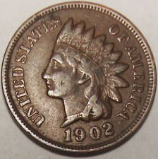 1902 Indian Head Cent / Penny (Indian Head Nickel Coin)