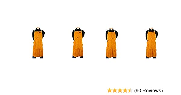 fba185c8e0c2c Lincoln Electric Brown One Size Flame-Resistant Leather Welding Apron  (4-Pack)