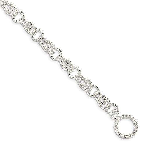 Sterling Silver Double Twist Link Bracelet
