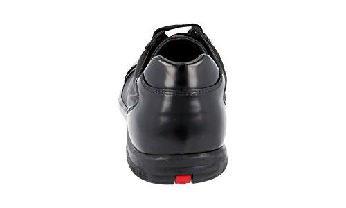Prada Heren 4e2439 Geborstelde Spazzolato Lederen Sneaker