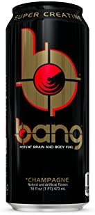 BANG Energy Drink with Zero Calories High Caffeine, Champagne – 16 Fl Oz 12 Count – VPX Vital Pharmaceuticals