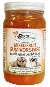 Gumivore-Fare Mixed Fruit for Sugar Glider & Marmosets 8 oz. - Sugar Dish Open