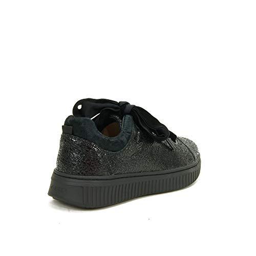Niñas Discomix Cordones Zapatillas J Sin C9999 Geox Para black Negro C AR0nF