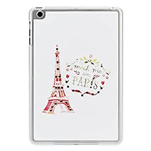 Diamond Look Eiffel Tower's Promise Pattern PC Hard Case with Matte Transparent Frame for iPad mini