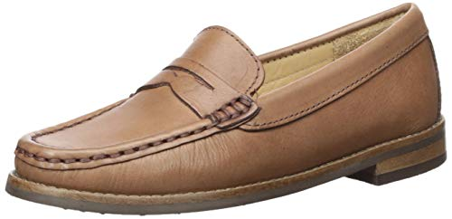 Driver Club USA Unisex Leather Boys/Girls Casual Comfort Slip On Moccasin Penny Loafer Driving Style, Mocha Nappa 11.5 M US Little Kid