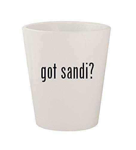 got sandi? - Ceramic White 1.5oz Shot Glass
