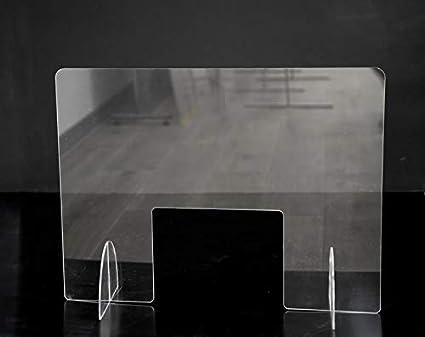 Mampara protección estetica ventana grande 80x60cm mampara protectora: Amazon.es: Oficina y papelería
