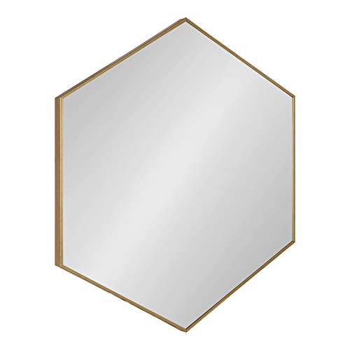Kate and Laurel Rhodes 6-Sided Hexagon Framed Wall Mirror, 30.75x34.75, -
