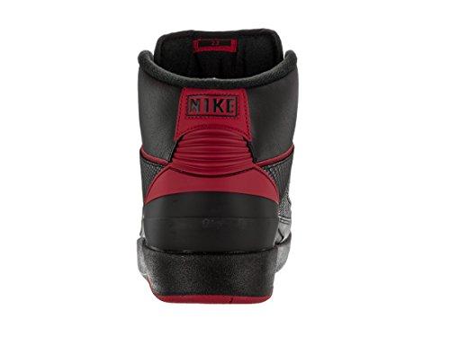 Nike Herre Air Jordan 2 Retro BasketballSko, Talla Sort (Sort / Varsity Rød)
