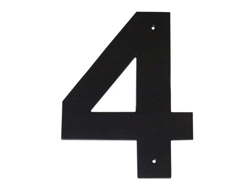 Montague Metal Products Helvetica Font Individual House Number, 4, 10-Inch