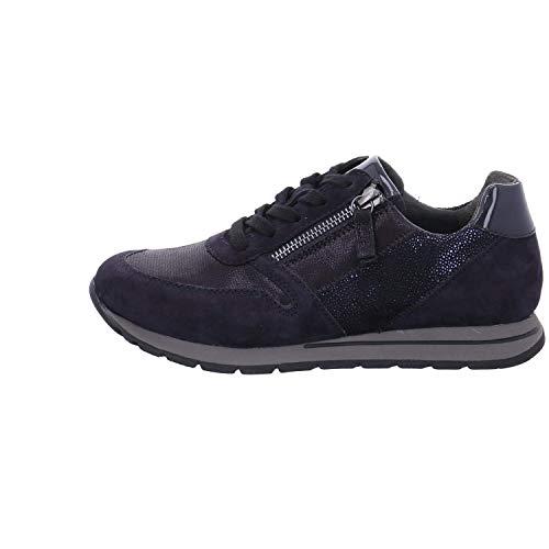 Cuero De Mujer Gabor Zapatos Con Azul Cordones wF4xIv