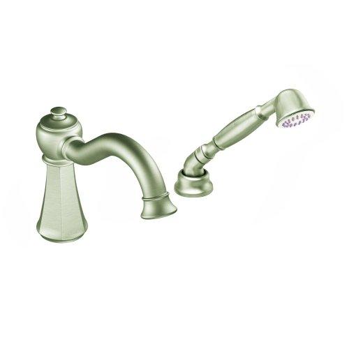 Moen T9322BN Vestige High Arc Roman Tub Faucet Includes Hand Shower IO-Digital Technology, Brushed Nickel ()