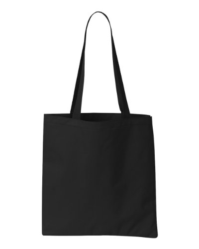 (Liberty Bags Madison Durable Construction Basic Tote Bag_Black_One)
