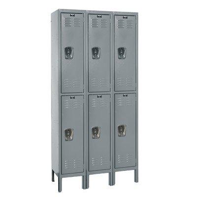 Hallowell U3226-2A-HG Premium Wardrobe KD Metal Locker, Assembled, 3-Wide Grouping, 2 Tier, 30