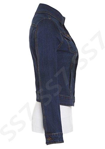SS7 Femmes 16 Jeans Indigo Tailles Veste Jeans En 24 to rrZ7vpq