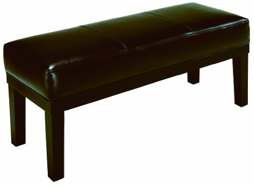 Crown Mark Barlow Bench with Bicast PVC by Crown Mark