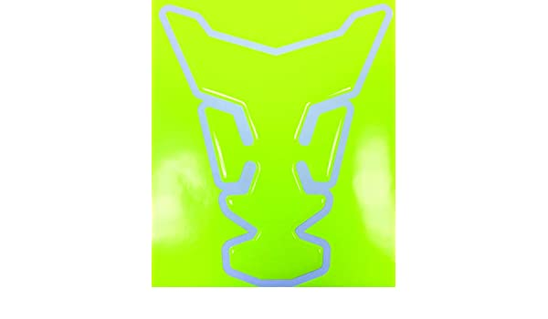 Neon Yellow Shifter Shape 3d Gel Motorcycle Gas Tankpad Motorcycle TanK pad Decal Sticker